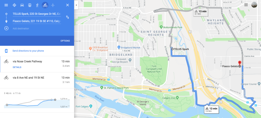 20190507 www.iamcalgary.ca I AM CALGARY Best-Loved Downtown Calgary Cycle Circuits Bow River Pathway Telus - optional