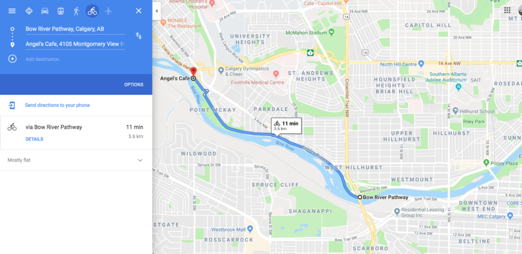 20190507 www.iamcalgary.ca I AM CALGARY Best-Loved Downtown Calgary Cycle Circuits Bow River Pathway westbound - optional