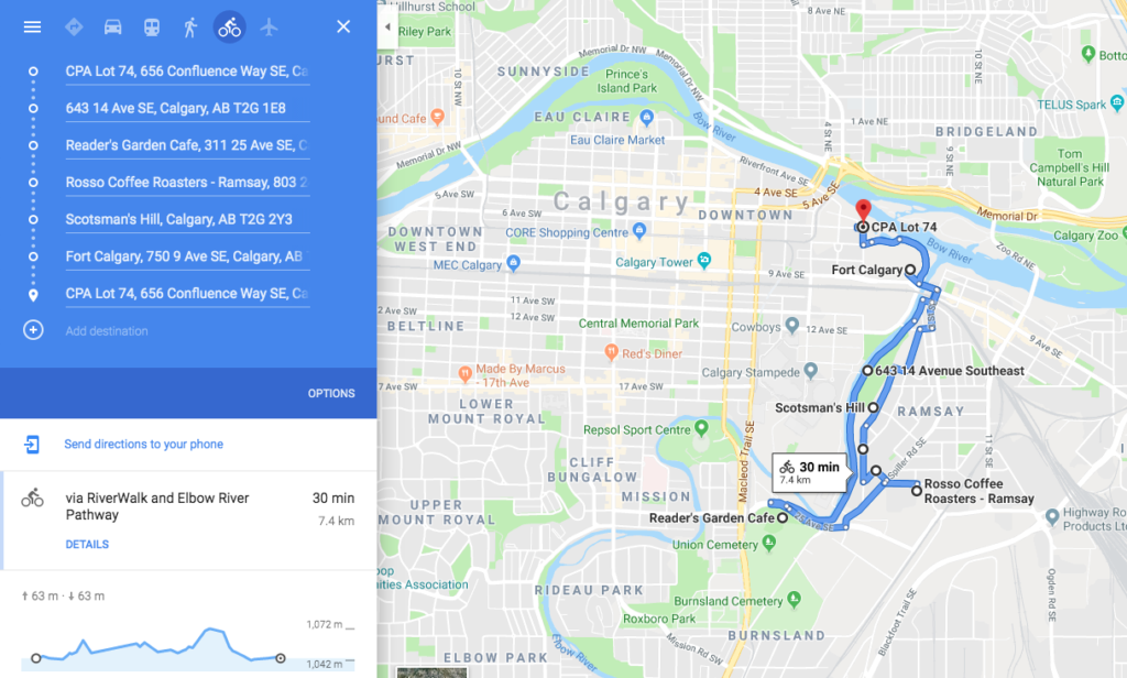 20190507 www.iamcalgary.ca I AM CALGARY Best-Loved Downtown Calgary Cycle Circuits Southbound
