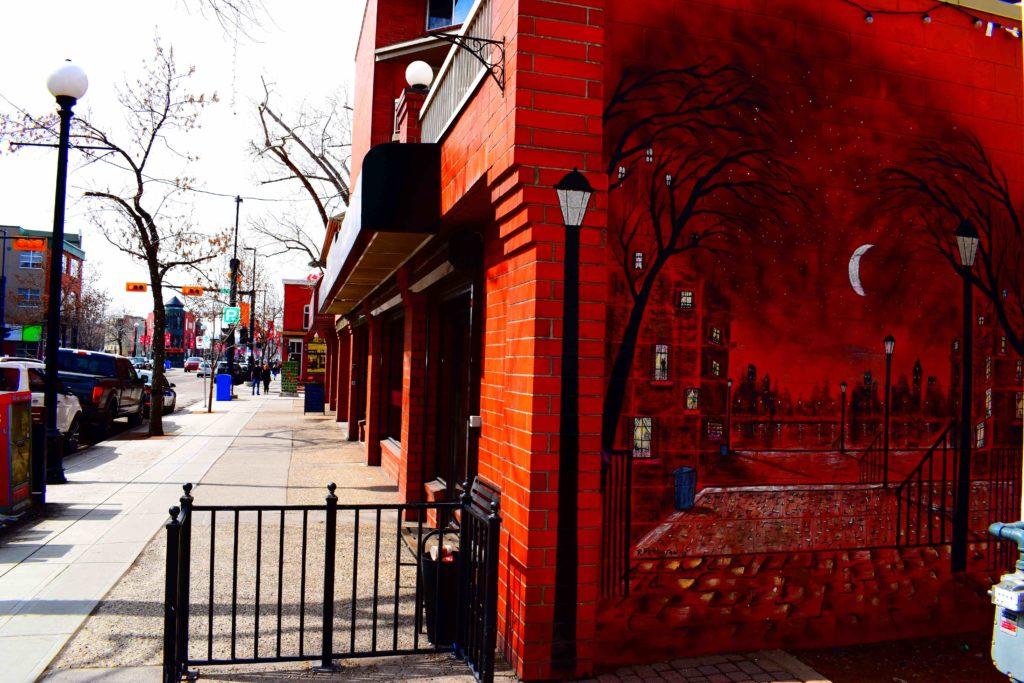 www.iamcalgary.ca I Am Calgary Wall Art Graffiti Kensington Street Red Brick