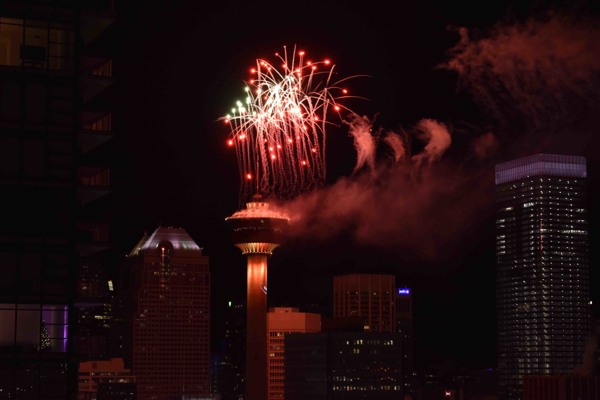 www.iamcalgary.ca I am Calgary Tower New Years 2019