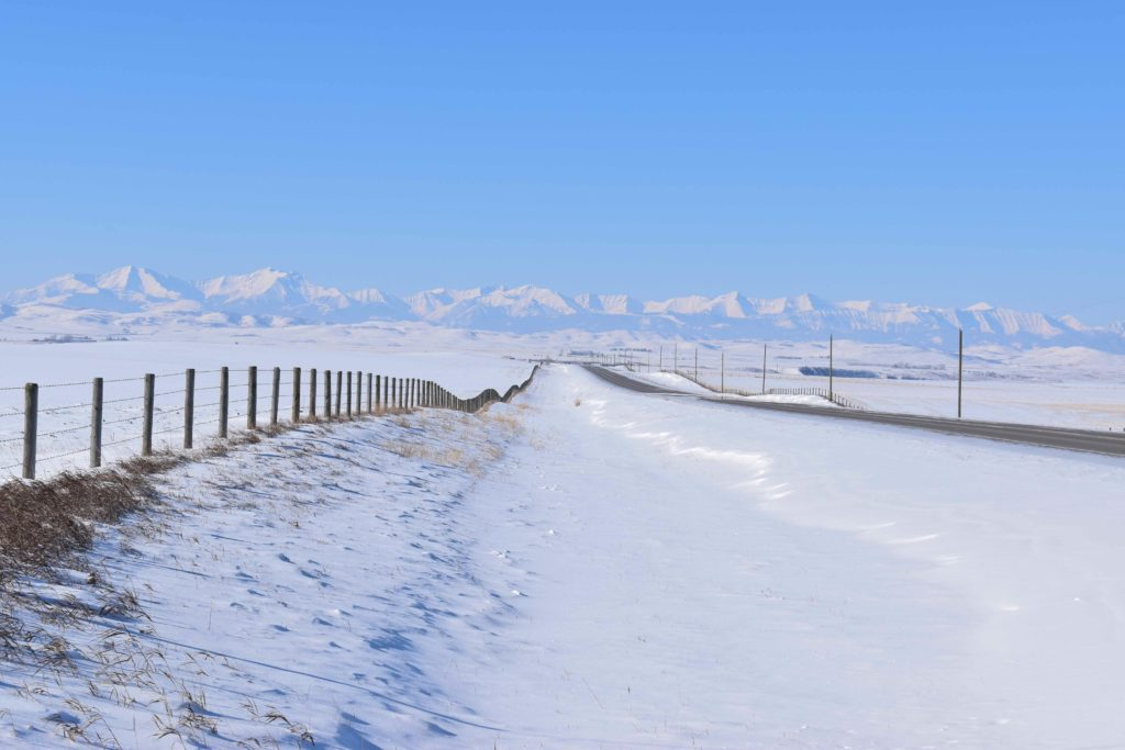 www.IAmCalgary.ca I Am Calgary Ice Fishing Snowy Foothills Drive