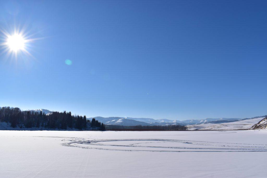 www.IAmCalgary.ca I Am Calgary Ice Fishing Chain Lakes Frozen