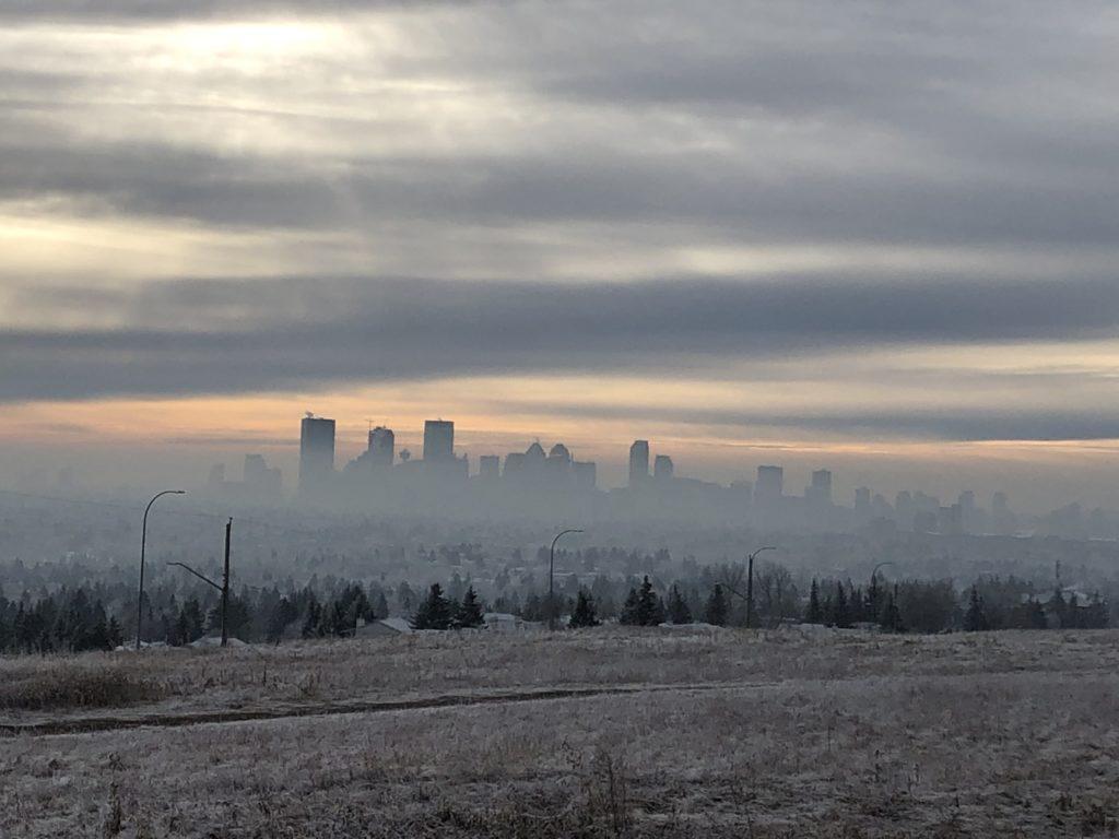 www.iamcalgary.ca I Am Calgary Nose Hill Park Downtown Calgary Fog