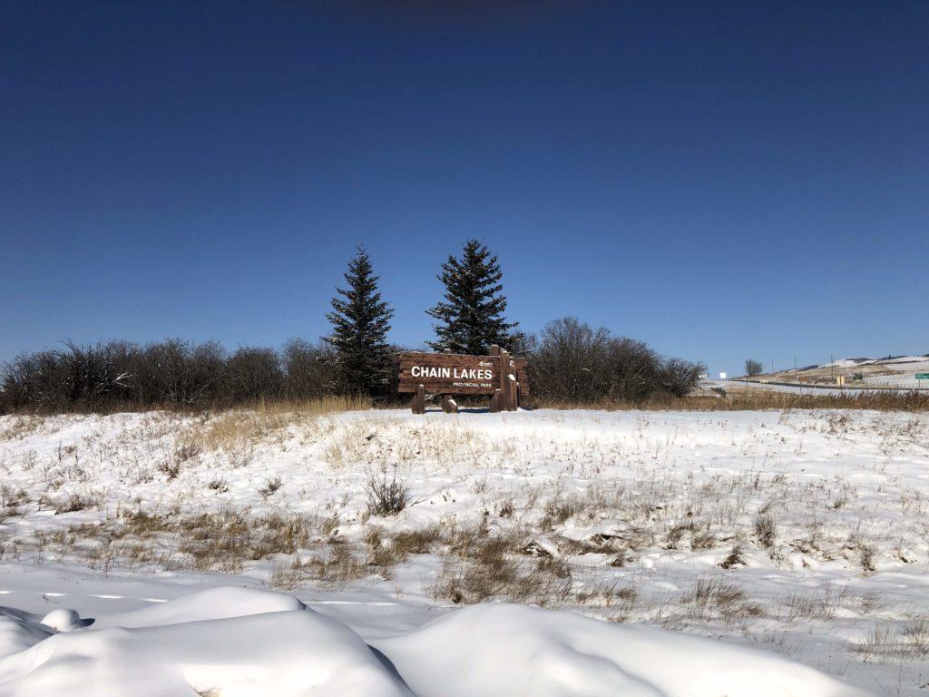 www.IAmCalgary.ca I Am Calgary Ice Fishing Chain Lakes Sign