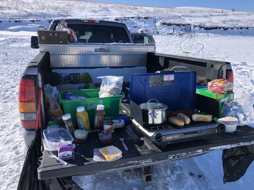 www.IAmCalgary.ca I Am Calgary Ice Fishing Weiner roasting and food