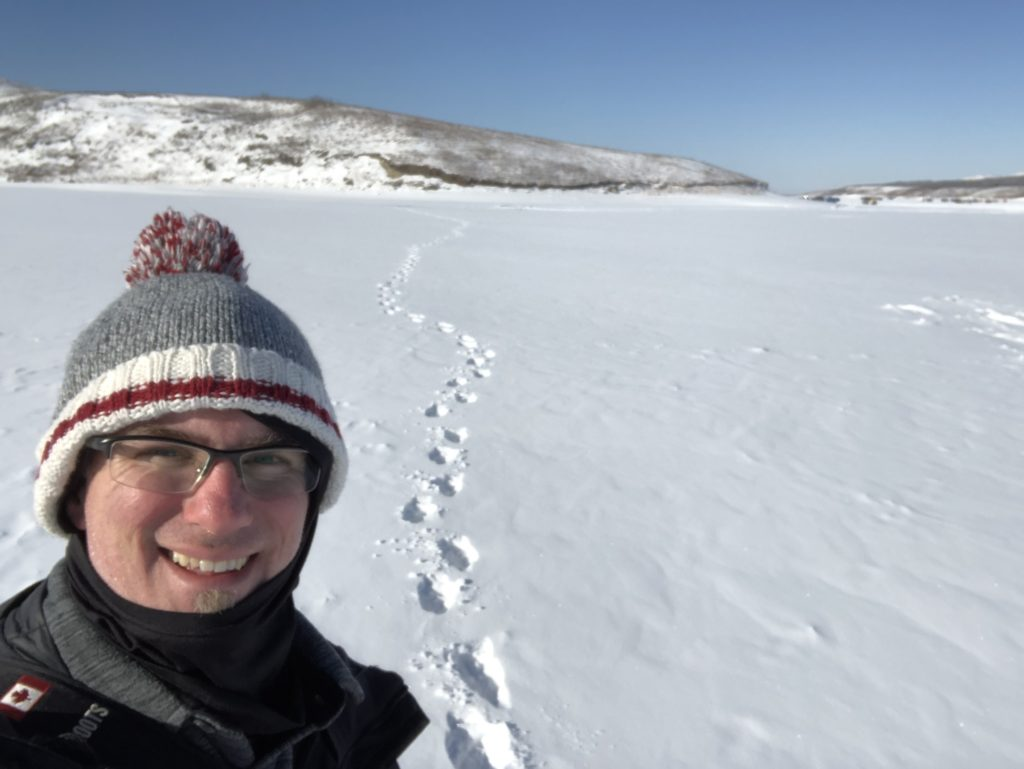 www.IAmCalgary.ca I Am Calgary Ice Fishing Derek walk