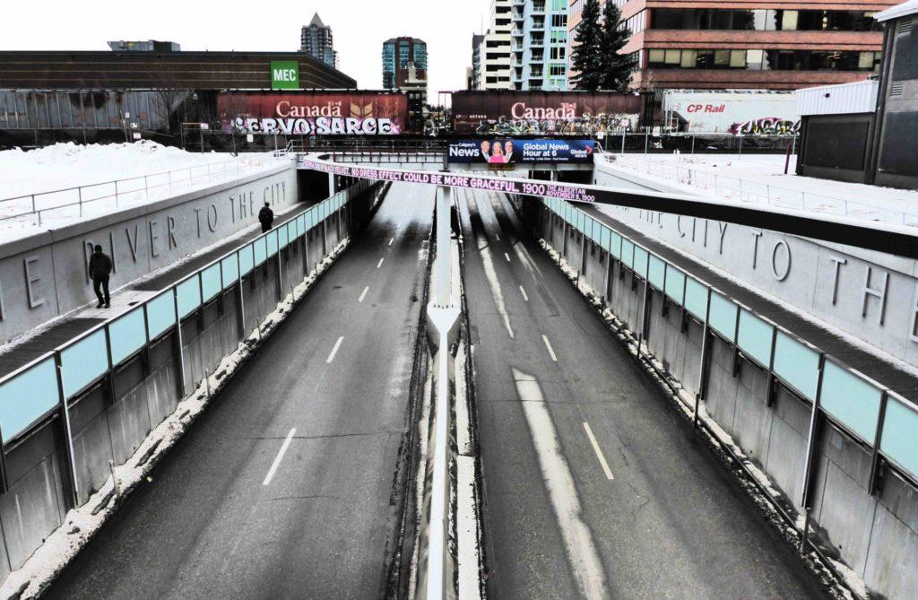 www.iamcalgary.ca I Am Calgary Wall Art Graffiti CP Rail 7th St SW Underpass