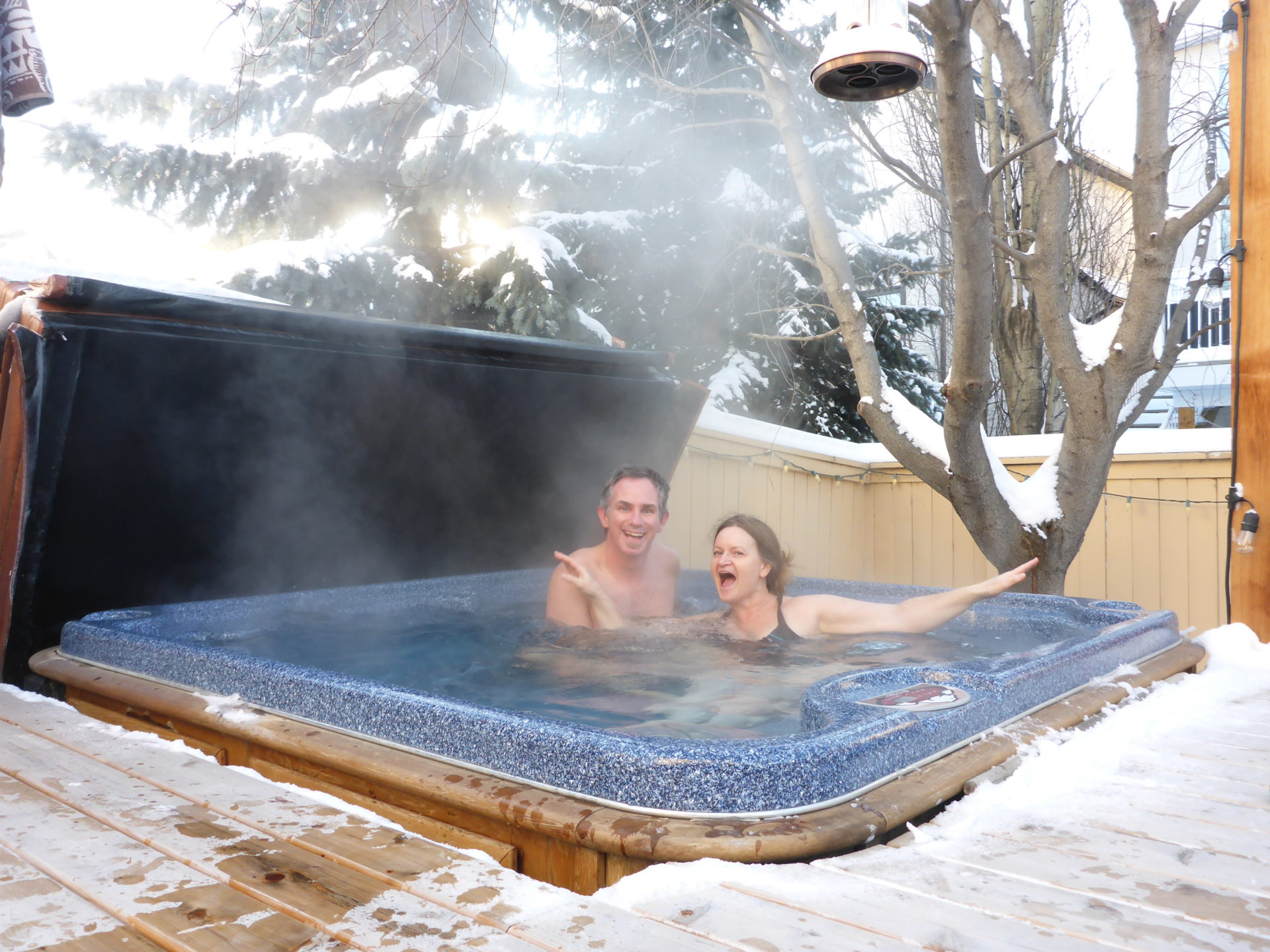 www.iamcalgary.ca I Am Calgary Hot Tub Back Deck Christmas with the Delmars