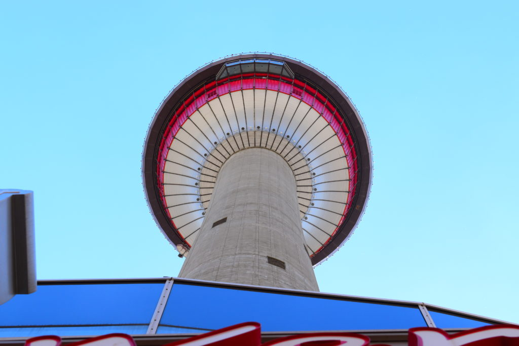 www.iamcalgary.ca Calgary Tower from 9th Av Street View