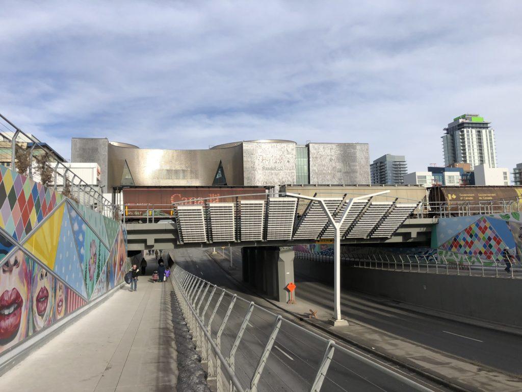 www.iamcalgary.ca I Am Calgary Corridor of Connection Wall Art 4th St SE Underpass