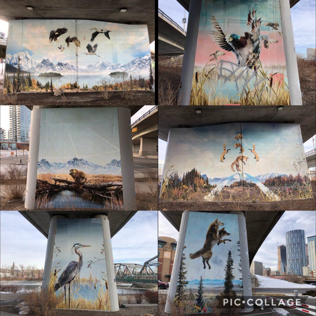 I Am Calgary EV Bridge Artwork